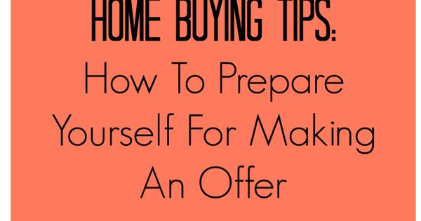 how to prepare write an offer for a house