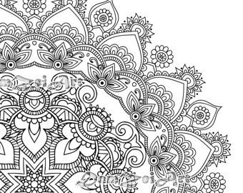 Flower Mandala Coloring Page Printable Pdf Blank Mandala Mandala Coloring Pages Mandala Coloring Coloring Pages