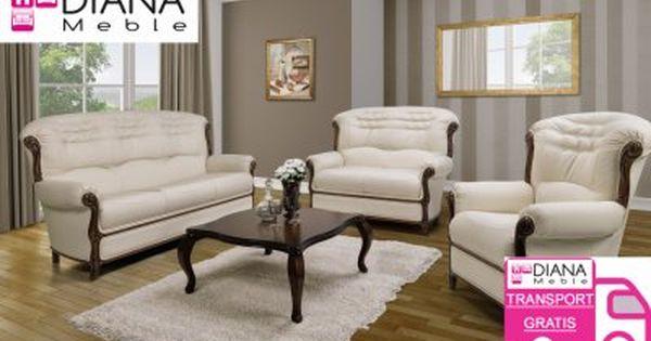 Komplety Wypoczynkowe Hilton 3r 2p Skora Naturalna Couch Sofa Couch Furniture