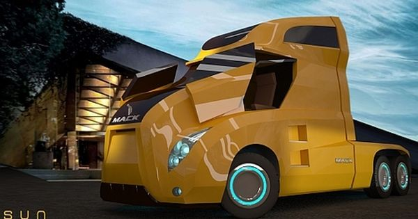 custom semi truck that looks like something out of tron bad ass semi rigs pinterest. Black Bedroom Furniture Sets. Home Design Ideas