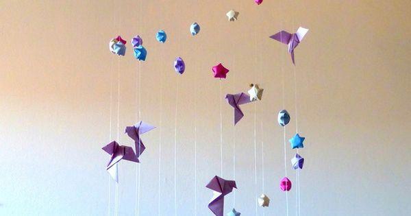 Grue mobile de papier sur pinterest mobiles d origami origami et - Grand Mobile Pour B 233 B 233 Origami Quot L Envol Jusqu Aux 233 Toiles