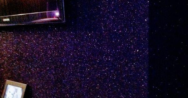 Purple Glitter Wall Paper Wallpaper Paint Pinterest