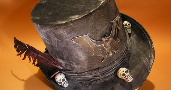 Halloween Hat Witch Doctor Hat Skeleton Hand Top Hat Cosplay Hat Funny Party Hat Black Top Hat for Halloween Party Decorations DomeStar Voodoo Hat