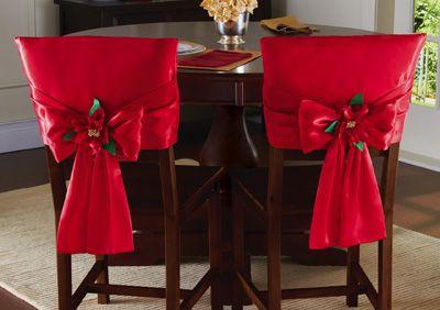 F rias vermelho cadeira jantar bow back covers for Sillas para ferias