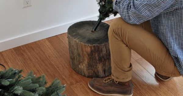 DIY: Christmas tree stand for artificial tree what a great idea!