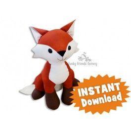 Red Fox plush pattern stuffed animal sewing PDF