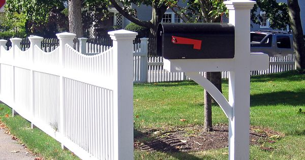Picket Fence With Mailbox Post Get Outside Pinterest
