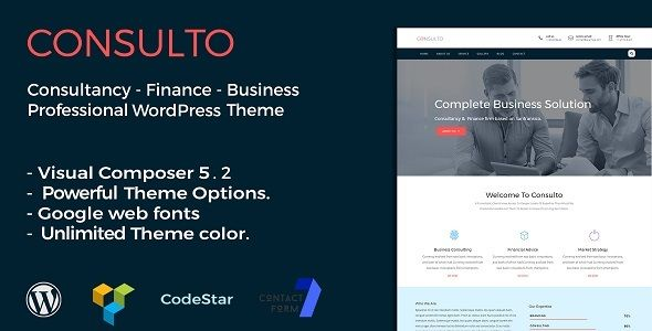 Consulto Consulting Business Wordpress Theme