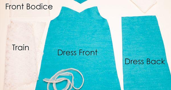 Elsa Inspired Doll Dress || Free PDF Pattern || Shwin ...
