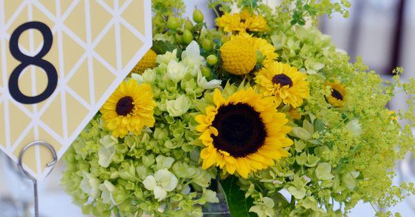 Sunflower Centerpiece At The Atrium At Meadowlark Botanical Gardens In Vienna Va Timmester