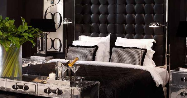Chic black and white bedroom mebel i dekor eichholtz for Eichholz interieur