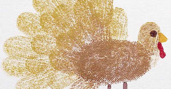 Thanksgiving craft, fingerprint craft, turkey fingerprint