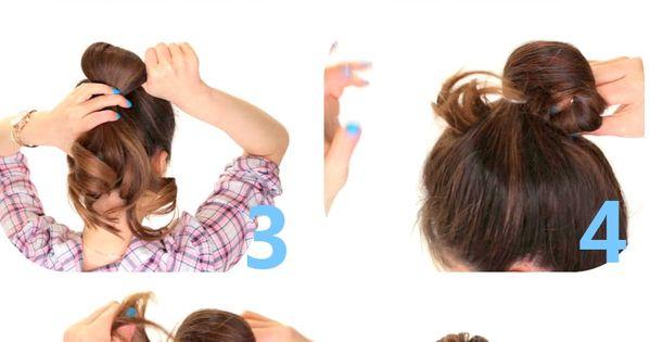 2-Minute Bubble Bun   hairstyles hairstyle hair messybun bun style fashion look