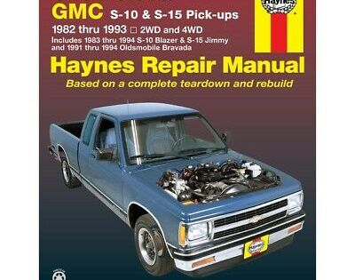 Details About 24070 Haynes Repair Manual New For Chevy Olds S10
