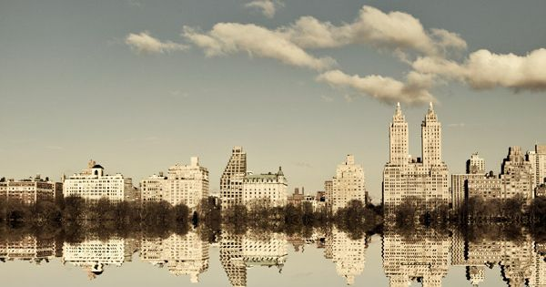 NYC Skyline, New York Photography, Manhattan Reflection, Central Park Photo, Fine Art