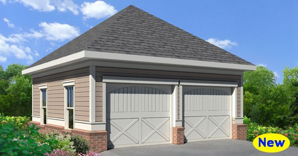 One of our most popular traditional garage plans a simple for Building a detached garage on a slope