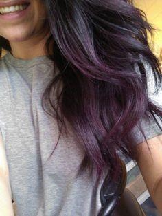 Subtle 4 Subtle Purple Hair Hair Styles Purple Ombre Hair