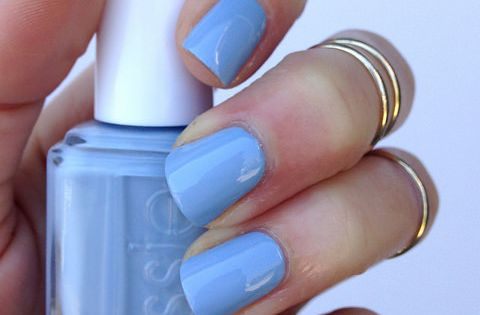 Make a splash in a summery blue nail polish like 'salt water