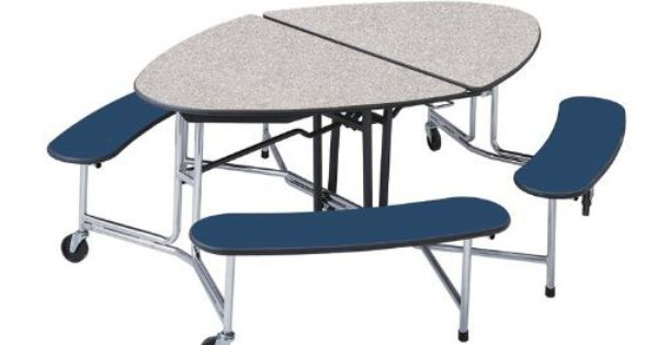Elliptical Shaped Portable Cafeteria Table By Mitchell By Mitchell 1447 00 Cafeteria Tables This Ta Cafeteria Table Table And Chairs Home Kitchens