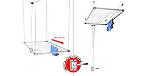 Tendedero Para Techo De Aluminio 78x160m Leroy Merlin Buanderie Buanderies Déco Maison