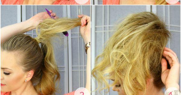 Cotton Candy Bun Tutorial   MIssySue.com   Hair ...