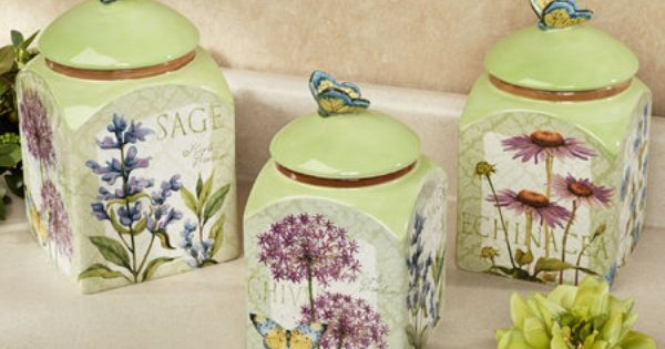 Gardens Canister Sets And Kitchen Canisters On Pinterest