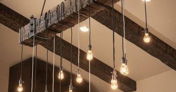 Pendellampen holzbalken design pinterest holzbalken - Lampade design low cost ...