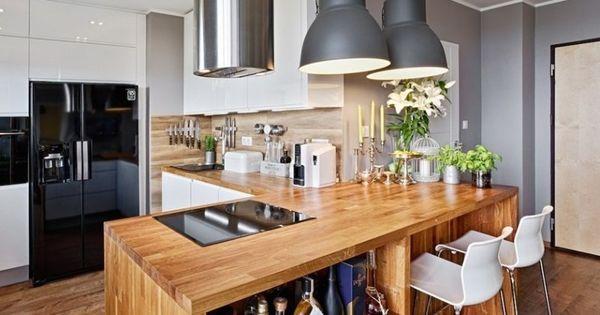 Plan de travail cuisine 50 id es de mat riaux et couleurs - Extraordinaires idees declairage cuisine ...
