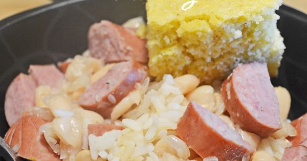 SLOW COOKER Beans and Turkey Sausage. Great northern beans ...