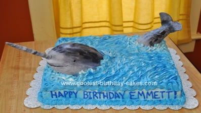 Cool Coolest Narwhal Cake Whale Birthday Whale Birthday Cake Kids Personalised Birthday Cards Beptaeletsinfo
