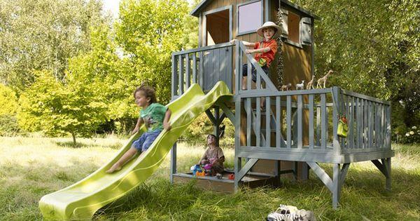 Maisonnette en bois tour castorama kid garden project pinterest - Balancelle jardin castorama tours ...