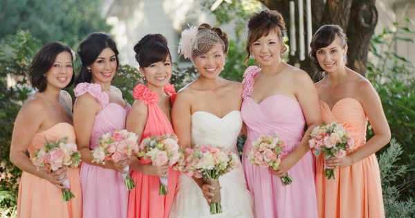 Pretty color palette for the bridesmaid dresses. Photography by stephenpappasphot...