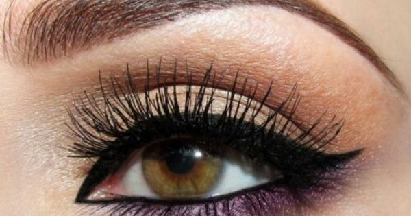 How To Make Brown Eyes Pop Purple Accents Brown Eyes