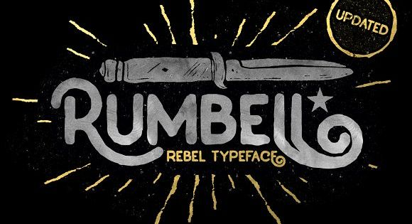Rumbell – solid bold vintage display font inspired from the old store and garage billboard in the classic era