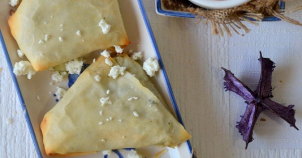 Spinach and feta, Samosas and Feta on Pinterest