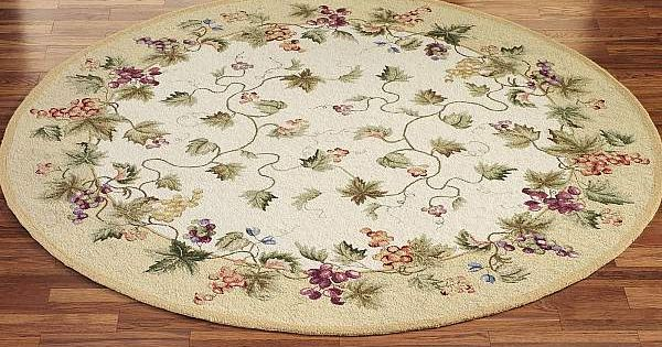 Vining Grapes Round Wool Area Rugs | Area Rugs | Pinterest ...