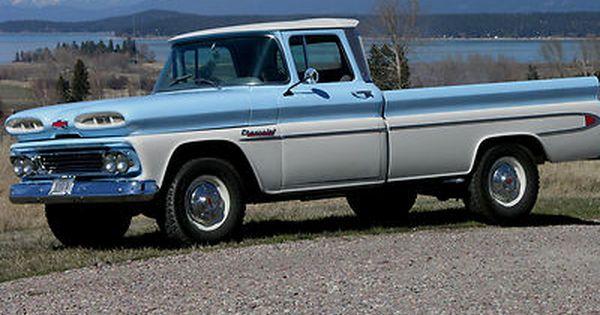 1960 Chevrolet Apache 20 Fleetside Deluxe Hot Rod Trucks Chevy Trucks Old Trucks