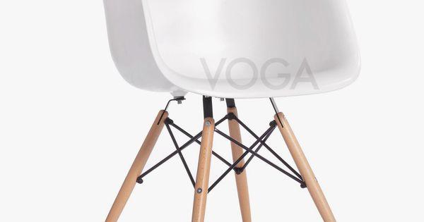 Daw stoel charles eames design stoelen voga idee n voor het huis pinterest charles - Eames eames stoel ...