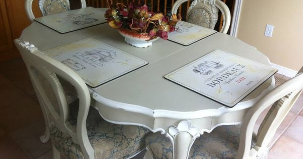 Kitchen Table and chairs painted with Chalk Paint ...