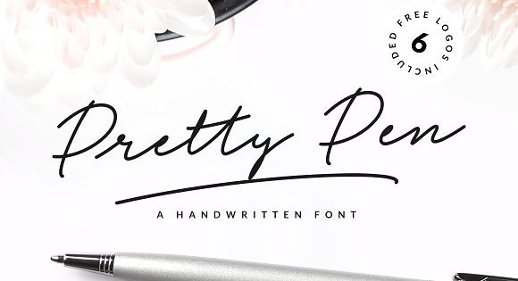 Pretty Pen is a trendy and unique handwritten font with a wide and right-slanted touch