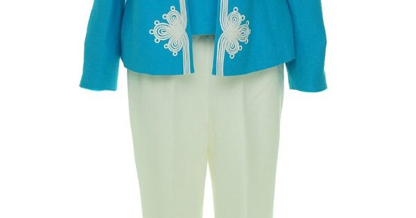 3 Piece Rose Garden Pant Suit For Women Over 50