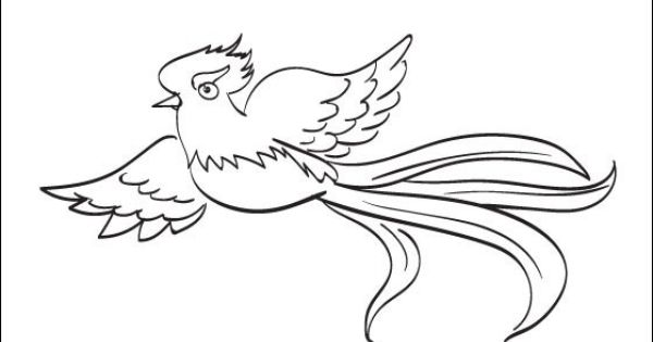 Quetzal coloring page to print