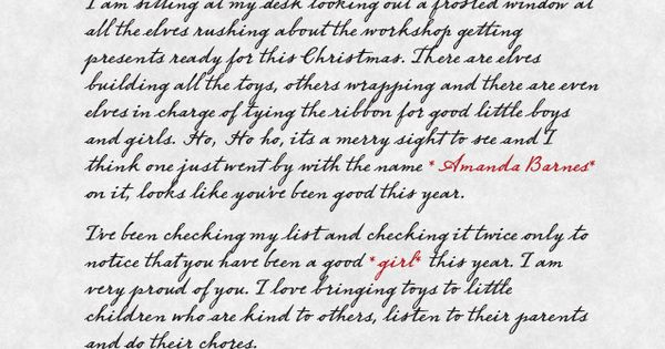 Order An Official Letter From Santa Very Clever