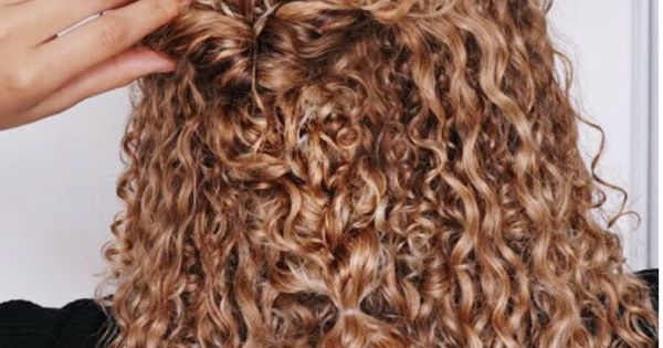 Curly Hairstyles Natural Hair 3b 3c Curls Half Updo