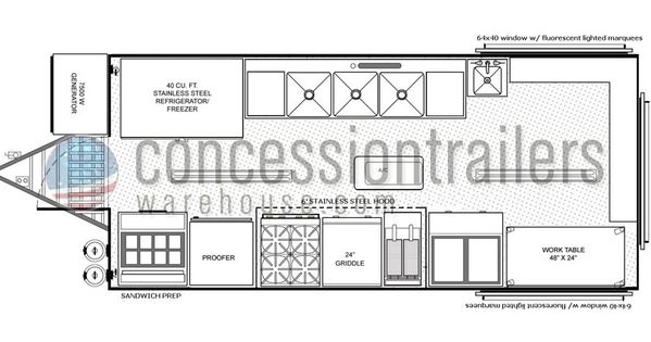 Mobile Kitchens For Sale Concession Trailer Floor Plans How To