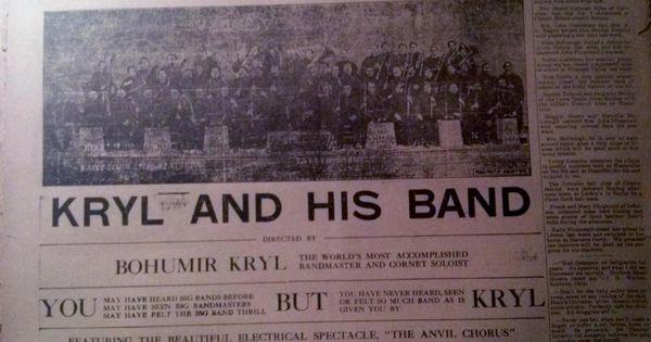 june 9 1910 newspaper 5002 bohumir kryl and his band live at waukon iowa stuff to buy. Black Bedroom Furniture Sets. Home Design Ideas
