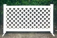 Fencing White Vinyl Lattice Section Fence Panels Lattice Fence Vinyl Fence Panels