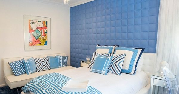 D co int rieur blanc et bleu combinaison classique for Decoration interieur classique