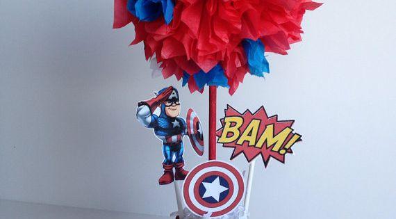 Captain America birthday party decoration, Super Hero Birthday Party, Super Hero theme