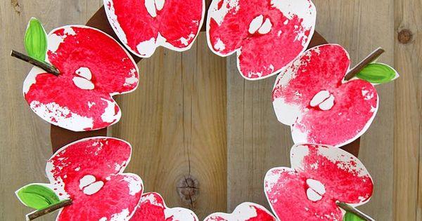 Apple wreath craft
